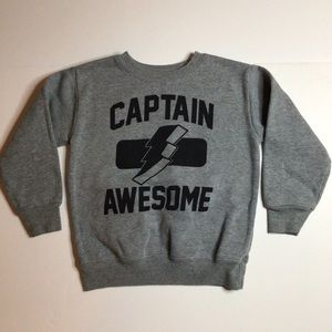 💚5/$20💚Captain Awesome Crew Sweatshirt Size 3T